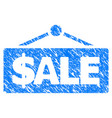 sale label grunge icon vector image