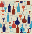 bar background with bottles and glasses vector image