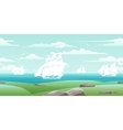 Sea landscape with ships vector image