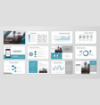 abstract business brochure set vector image vector image