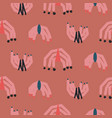 abstract shapes modern seamless pattern coral red vector image vector image