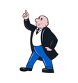 Bald Businessman Pointing Up vector image vector image