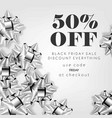 black friday sale discount promo offer poster or vector image vector image