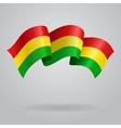 Bolivian waving Flag vector image vector image