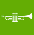 brass trumpet icon green vector image vector image
