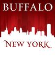 Buffalo New York city skyline silhouette vector image