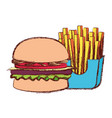 burger vector image vector image