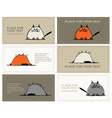 Business cards with cats sketch for your design vector image