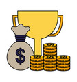 business money success vector image