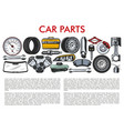 car parts and automobile service mechanic tools vector image vector image