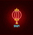 china 2021 neon label vector image