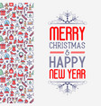 christmas and new year greeting card concept vector image