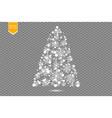 christmas tree made white glitter bokeh lights vector image vector image