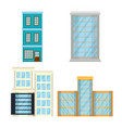 cityscape set elements icons vector image