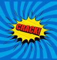 comic book poster vector image vector image