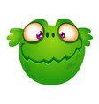 cute cartoon green alien head vector image