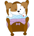cute puppy sick thm vector image