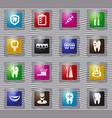 dental glass icons set vector image
