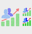 dotted people trend chart icons vector image vector image