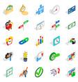 exchange icons set isometric style vector image