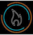 fire flames sign isolated vector image