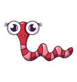 garden caterpillar icon cartoon style vector image