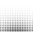 graphical black and white gradient in halftone vector image vector image