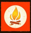 grunge fire symbol vector image