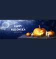 happy halloween holiday banner vector image vector image