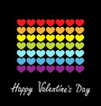 happy valentines day rainbow flag line icon vector image vector image