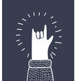 icon hand rock and roll sign vector image
