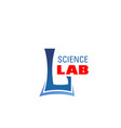 l letter icon for science lab laboratory vector image vector image