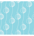 light blue decoration floral pattern vector image vector image