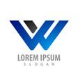 logo concept design initial letter w symbol vector image