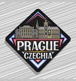 logo for prague vector image