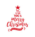 merry christmas quote tree lettering vector image vector image