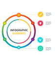 modern circle infographic elements with four optio vector image