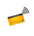 nfc payment pos terminal confirms contactless vector image