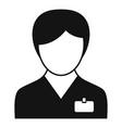 nursing team icon simple style vector image vector image