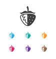 of cookware symbol on berry vector image vector image
