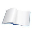 open notebook with clear pages vector image vector image
