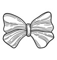party bow icon hand drawn style vector image vector image