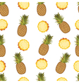 Pineapple seamless pattern on the white background vector image vector image