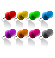 Pins in different colors vector image