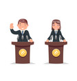 politician tribune performance businessman vector image