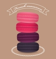 Poster with pyramid color french macaroons vector image vector image