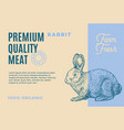 premium quality rabbit abstract meat vector image vector image