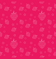 raspberries seamless pattern for kitchen textile vector image vector image