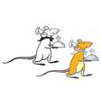 rat waiter vector image vector image