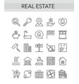 real estate thin line icon set for consulting vector image